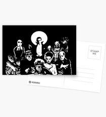 Horror RETRO Vintage Drive In Movie Monsters Postcards
