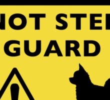 Humorous Chihuahua Guard Dog Warning (Long Haired Chi) Sticker