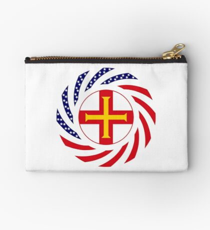 Guernsey American Multinational Patriot Flag Series Zipper Pouch
