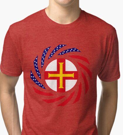 Guernsey American Multinational Patriot Flag Series Tri-blend T-Shirt