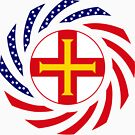 Guernsey American Multinational Patriot Flag Series by Carbon-Fibre Media