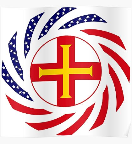 Guernsey American Multinational Patriot Flag Series Poster