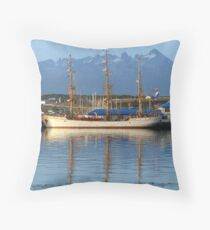 Geometric Ocean Reflection Throw Pillow