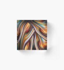 Swirling Rainbow Acrylic Block