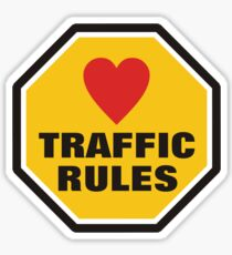 Love Traffic Rules Sticker