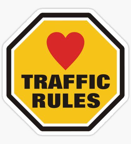 Love Traffic Rules Sticker