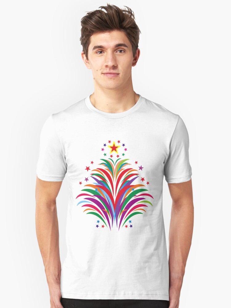 Fireworks Happy Occation  Unisex T-Shirt Front