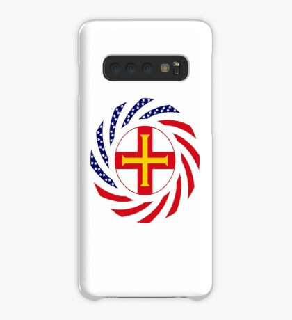 Guernsey American Multinational Patriot Flag Series Case/Skin for Samsung Galaxy