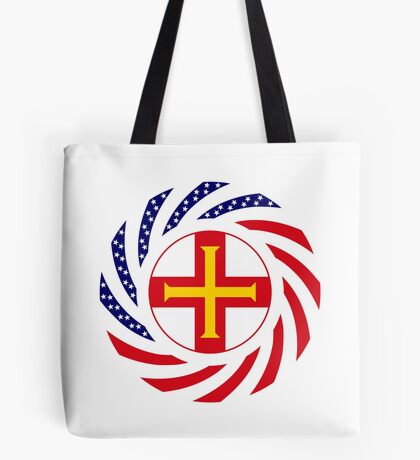 Guernsey American Multinational Patriot Flag Series Tote Bag
