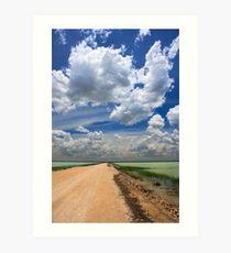 African Sky, Etosha National Park, Namibia, Africa. Art Print