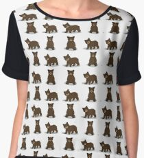 Cute Bear Chiffon Top