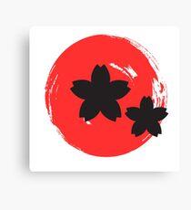 Japanische Rose Leinwanddruck