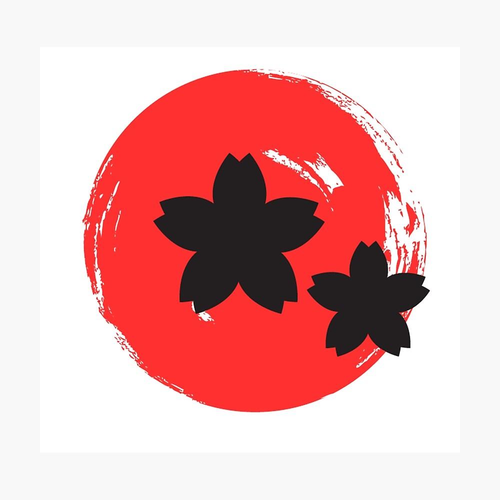 Japanische Rose Fotodruck