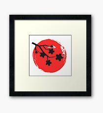 Japanische Rose 2 Gerahmtes Wandbild