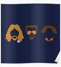 Big Lebowski Trio Poster