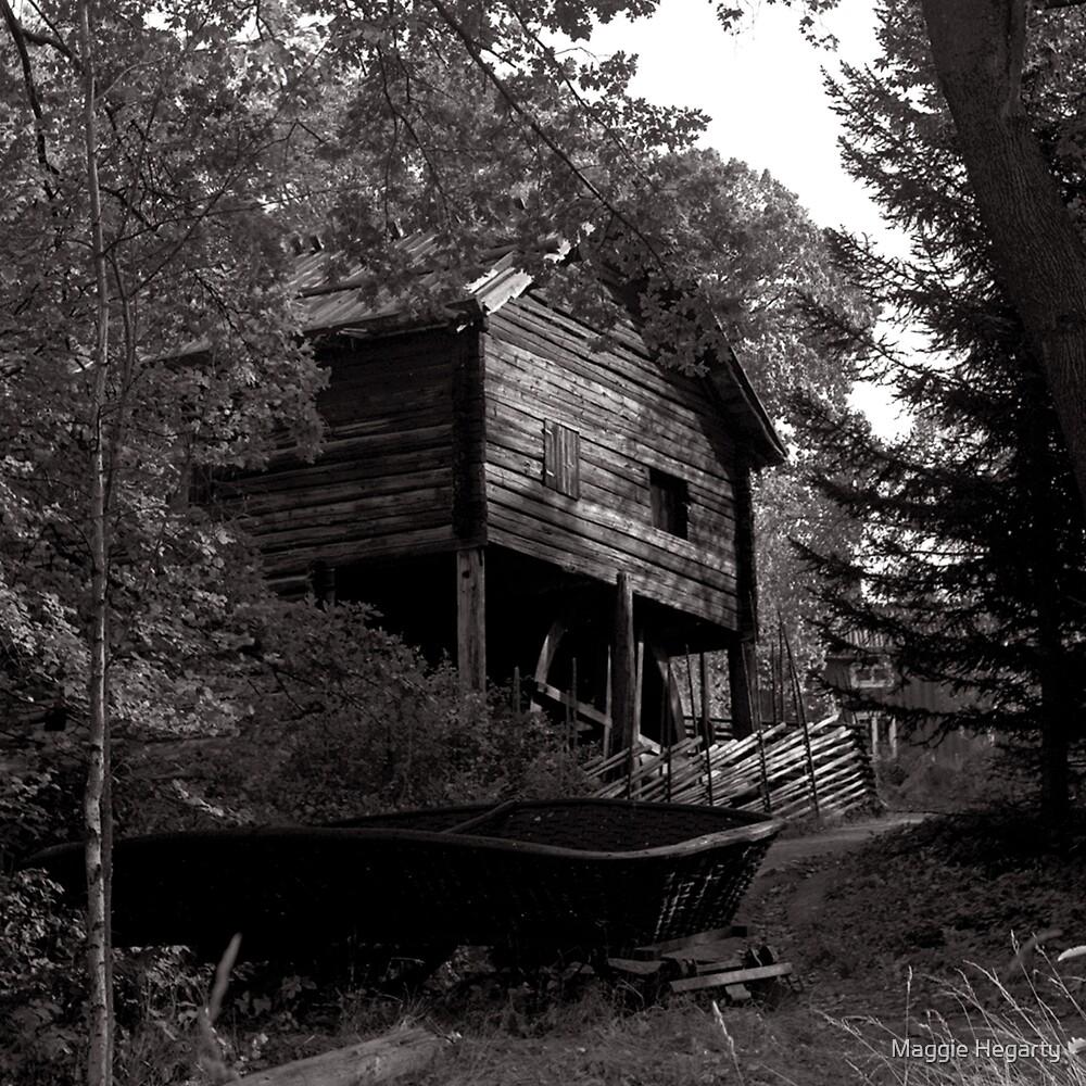 Swedish Boatshed by Maggie Hegarty