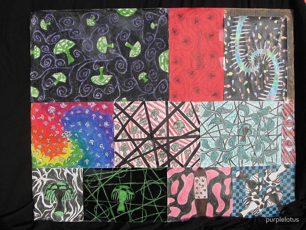 Mushroom Collage by purplelotus