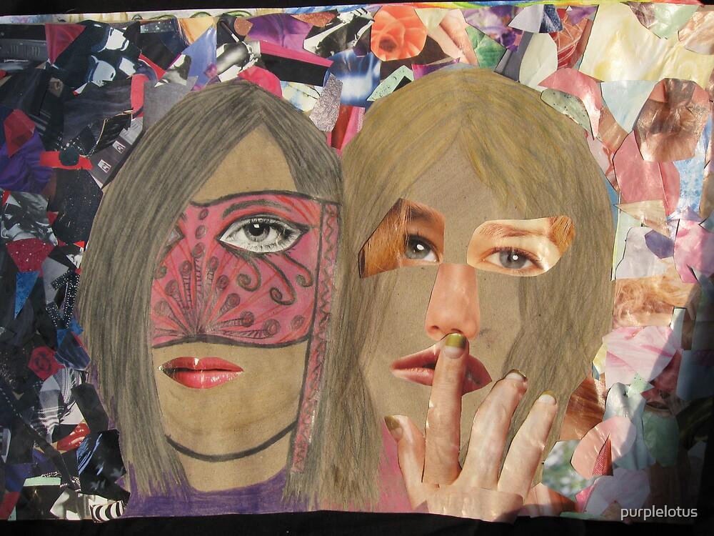 Abstract Self Portrait by purplelotus