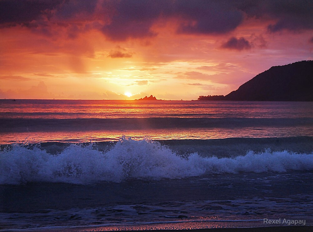 Sunrise Over Baler by Rexel Agapay