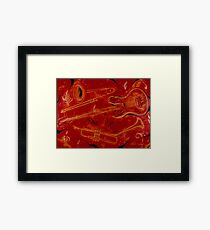 Jazzy and Spicy Framed Print