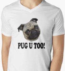 PUG U TOO! Men's V-Neck T-Shirt