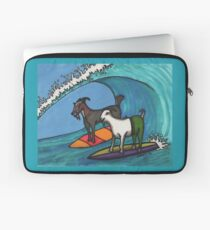Surfing Goats Laptop Sleeve