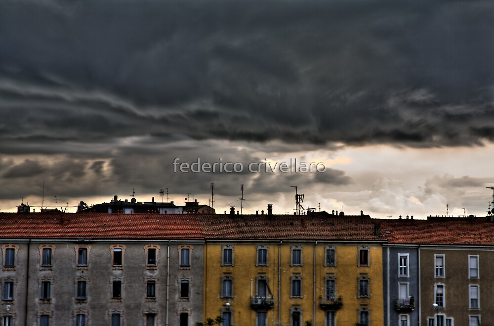 storm in Milan by federico crivellaro