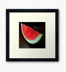 A Slice of summer Framed Print
