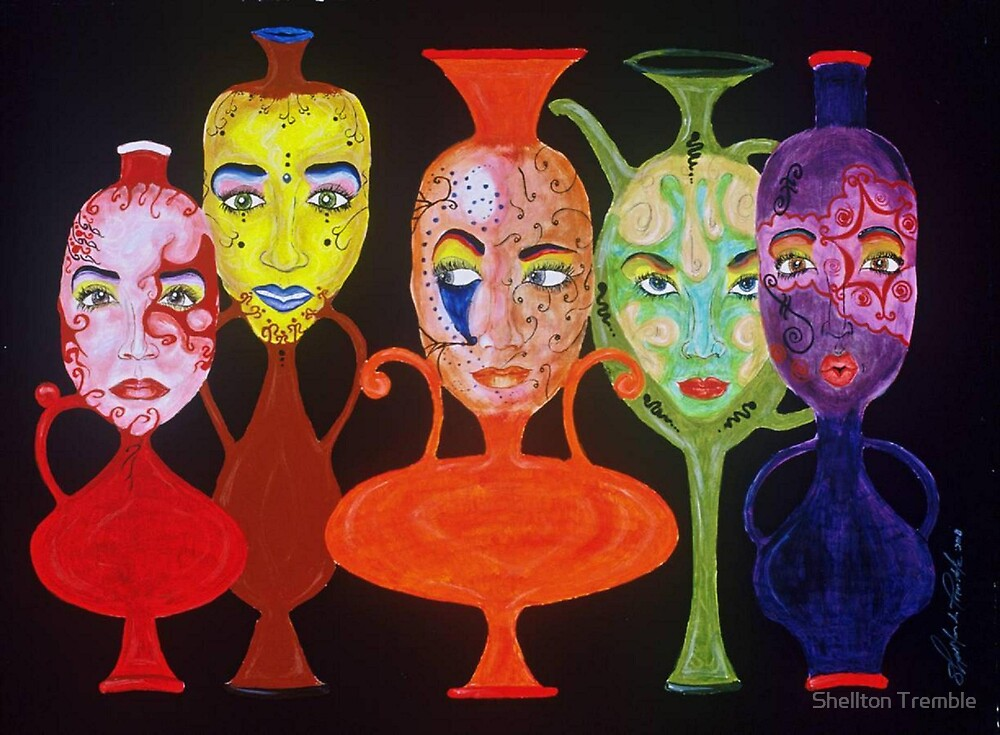 Vases with Faces by conceptus55