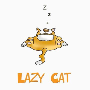 lazy cat by bunty