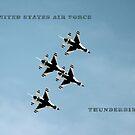 USAF Thunderbirds Over Colorado Springs by Lori Peters