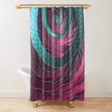 Abstract Bangles of Very Berry Bubblegum Bands Shower Curtain