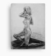 On one knee Canvas Print