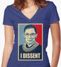 I DISSENT - Notorious RBG  Women's Fitted V-Neck T-Shirt