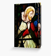 Stained Glass The Good Shepherd Greeting Card
