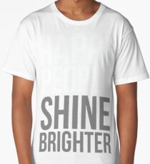 Happy People Shine Brighter Black Long T-Shirt