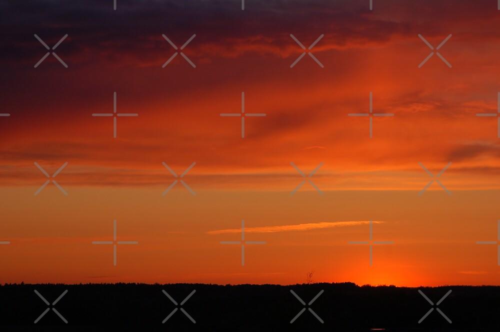 Sunset done in Estonia,Tallinn, Õismäe, from my home window by loiteke