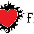I Love Feet BDSM Burning Heart Design by Dirk Hooper by DirkHooper