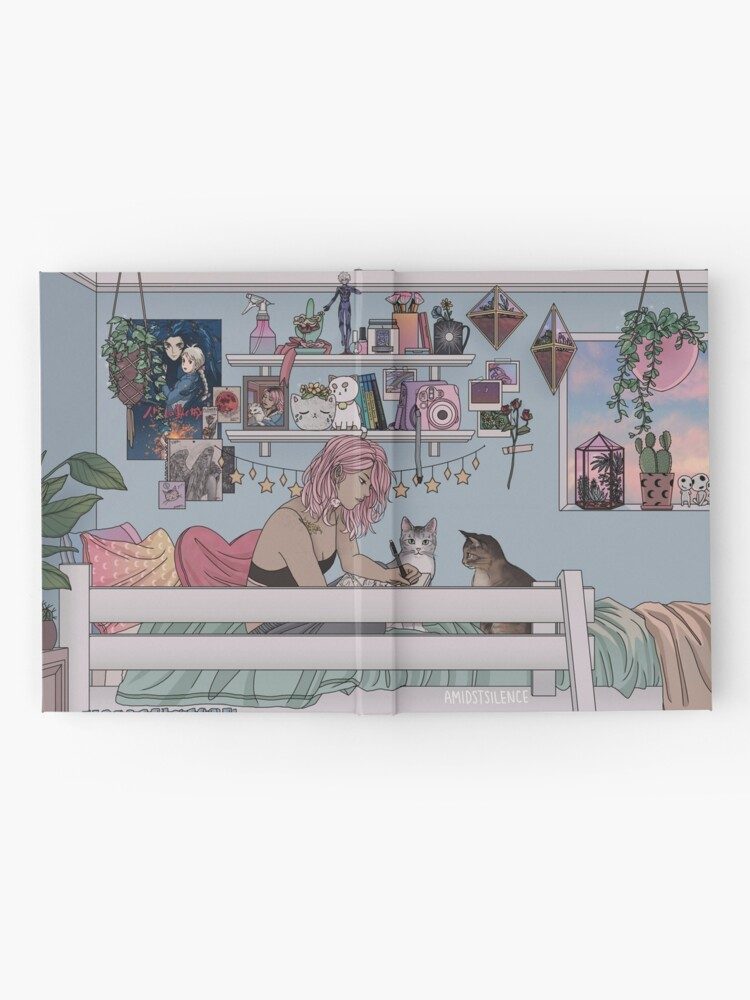 Alternative Ansicht von Pastell Daydreams Notizbuch