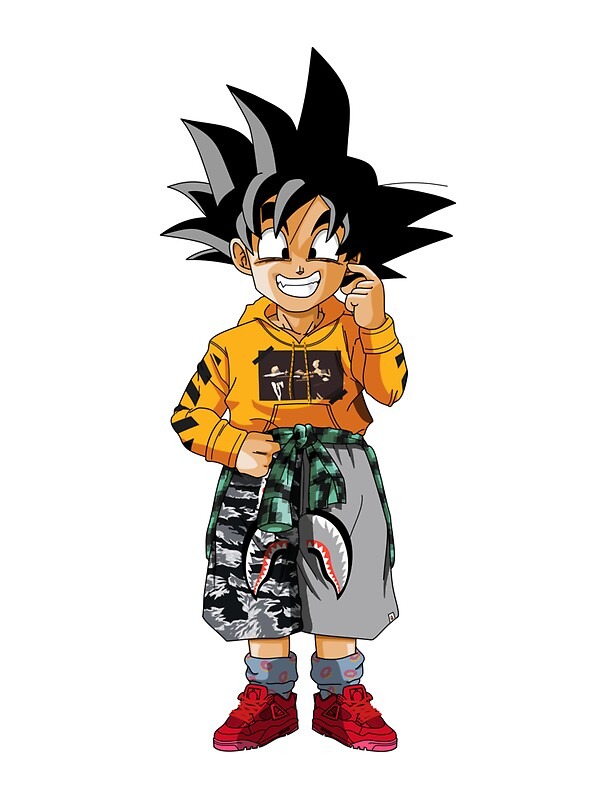 Quot Goten Sticker Quot Stickers By Hmnalns Redbubble
