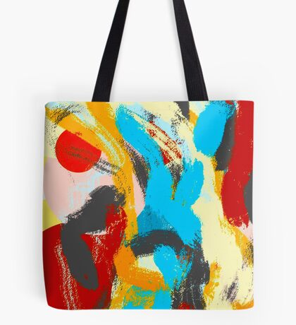Whiplash Abstract Painting Tote Bag