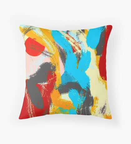 Whiplash Abstract Painting Throw Pillow