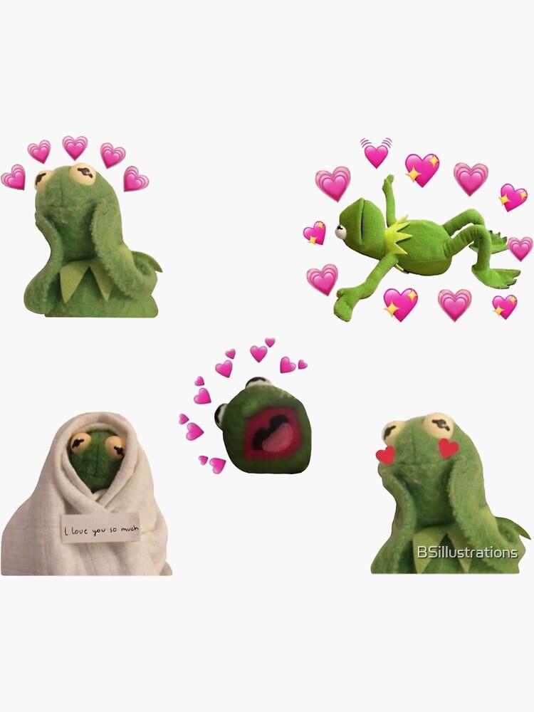 Kermit Love Meme Set de BSillustrations