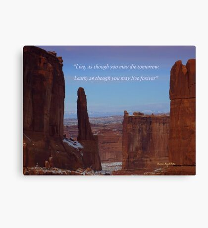Moab Inspiration Canvas Print