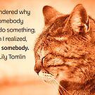 Do Something - Orange Cat by Ruth Moratz