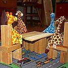 Giraffe Picnic by Donna R. Cole