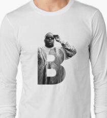 Camiseta de manga larga B es para Notorious BIG RIP big poppa