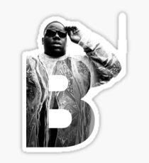 Pegatina B es para Notorious BIG RIP big poppa