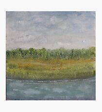 Sky in Water - oil on canvas Photographic Print