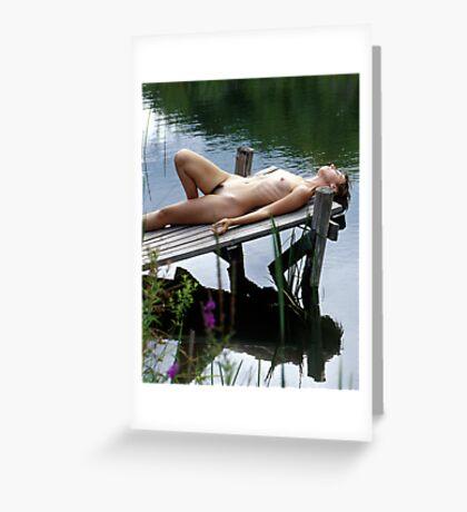 Reclining Nude, Woodstock, NY Greeting Card